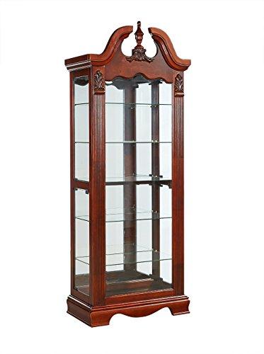 Lewes Mogano Glazed Curio Cabinet Unità display in stile antico