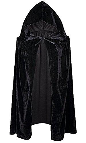 Unisex Kinder Mädchen Jungen Umhang für Vampir Halloween Party Kostüm Cap Kapuze Karneval Fasching Kostüm Cape 100CM
