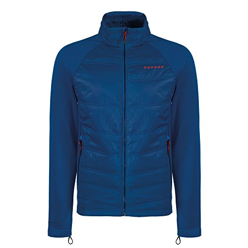 Dare 2b Mens Edge Off Polyamide Wicking Insulated Hybrid Jacket Oxford Blue