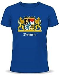 'Rahmenlos T-shirt pour T-shirt, armoiries de la Bavière de Munich Oktoberfest–Bavaria–Wiesn drôle XL, bleu royal