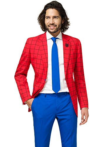 arvel Comics Hero Suits - Infinity War Avengers Costume Comes with Pants, Jacket and Tie, Spiderman, 50 ()