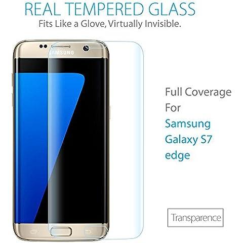 Samsung Galaxy S7Edge Protector de pantalla [cobertura total], szeetch [anti-bubble] [HD Clear] [curvado Fit] [sin burbujas] [resistente a arañazos] [HD Clear TPU película] [no Cristal] curvada Edge To Edge Protector de pantalla para Samsung Galaxy S7Edge, [2-Pack] Transparence Galaxy S7 edge