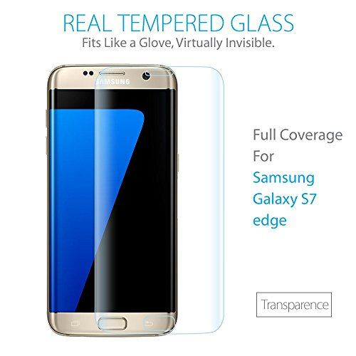 SZEETECH Es7edgeglassclear Displayschutzfolie, Galaxy S7 edge,  - Transparence Bubble Lights Ersatz