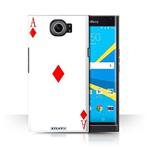 Preisvergleich Produktbild Stuff4 Hülle / Case für BlackBerry Priv / Karo-Ass Muster / Kartenspielen Kollektion