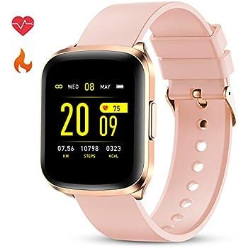 GOKOO Smartwatch Mujer Reloj Inteligente Impermeable IP68 ...