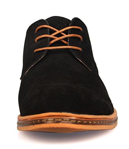 iLoveSIA® Chaussures de ville homme cuir Suede Oxfords Neuf Noir
