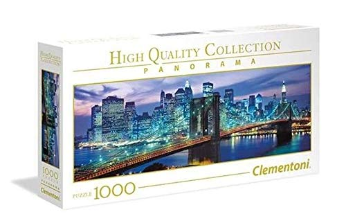 Clementoni 39434 New York Brooklyn Bridge Puzzle NP Panorama, 1000 Parts