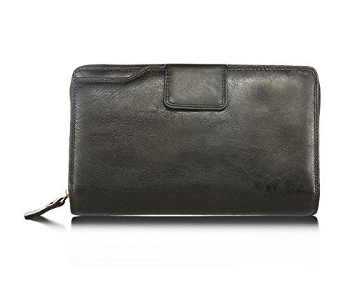 DJB/ Herren Mode Geschäft Leder Geldbörse Handtasche Lederclutch Black