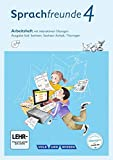 Sprachfreunde - Ausgabe Süd (Sachsen, Sachsen-Anhalt, Thüringen) - Neubearbeitung 2015: 4. Schuljahr - Arbeitsheft mit interaktiven Übungen auf scook.de: Mit CD-ROM