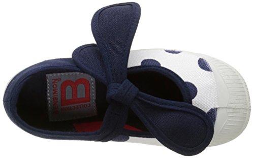 Bensimon Tennis Flo Pois, Baskets Basses Mixte Enfant Bleu (516 Marine)