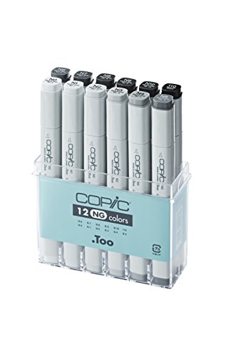 Copic Marker - neutrales Grau - 12er Set