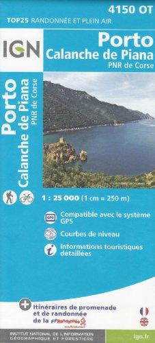IGN 4150 OT Porto, Calanche de Piana, PNR de Corse (Korsika, Frankreich) 1:25.000 topographische Wanderkarte IGN