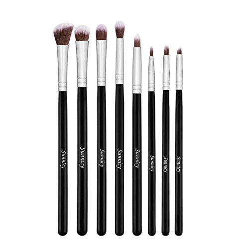 Sunnicy 8 PC-Verfassungs-Bürsten-Lidschatten Blush Brush Foundation Make-up Augen