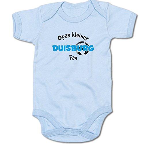 G-graphics Opas Kleiner Duisburg Fan Baby Body Suit Strampler 250.0307 (3-6 Monate, blau)