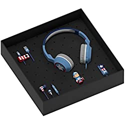 Tribe Marvel The Avengers Gift Box Include Chiavetta USB da 16 GB, Caricabatteria da Auto, Cavo Micro USB Line, Auricolari Swing e Cuffie On-Ear Pop - Captain America