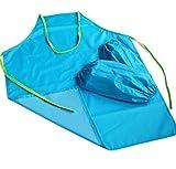 SunnyGod SunnyGod Hausfrau-Schürze L-Children Schürze PVC Wasserdichte Schürze mit Ärmeln (Blau)