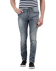 Indian Terrain Mens Slim Fit Jeans (ITA17DND010_Grey_34W x 34L)