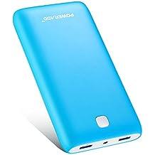 [Versión Mejorada] Poweradd Pilot X7 20000mAh Cargador Móvil Portátil Batería Externa Power Bank para iPhone iPad(Cable de Apple no Incluido) Dispositivos de Samsung y Más Reciente iPhone7 Color-Azul
