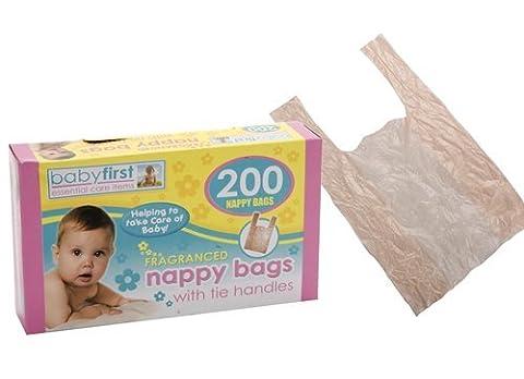 Guaranteed4Less Lot de 200 sacs à couches jetables parfumés avec poignées
