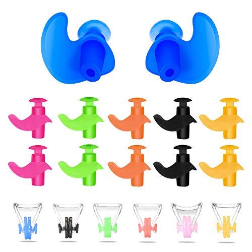 Nasenklammer für Schwimmer, Silikongel und Latex, wasserdicht, angenehm zu tragen, für Kinder und Erwachsene, verschiedene Farben