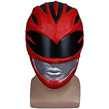 Equipo De Dinosaurios Power Rangers Extravagante Equipo Red Warrior Casco Máscara Cos Halloween Sombrero,DinosaurTeamMask-OneSize