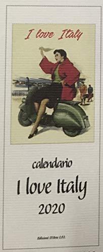 Calendario Golf 2020.Calendario 2020 I Love Italy Formato 13 5 X 34 Cm