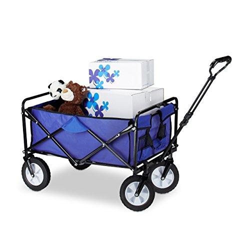 n faltbar, Handwagen, Einlegeboden, 360 ° drehbar, H x T x B: ca. 55 x 83 x 51,5 cm, blau (Schritt 2 Blaue Wagen)