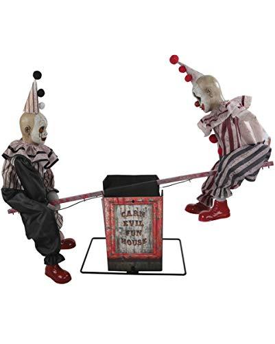 Wippende Horror Clowns Halloween Animatronic mit Bewegung, Licht & Sound