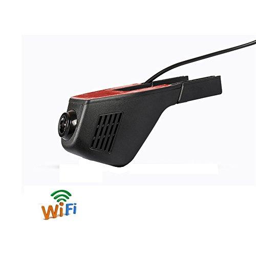 BEIDOUYH WIFI Auto DVR DashCam Armaturenbrett Kamera Fahrzeug On-Dash Video Camcorder mit Full HD 1080P 170 Grad Weitwinkel G-Sensor Parkmonitor Motion Detection Loop Kamera Fahren Recorder für Auto Fahrzeuge