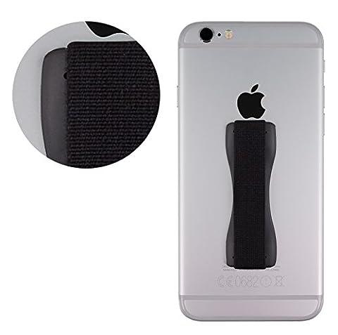 MyGadget Fingerhalterung optimalen Einhandbedienung Fingerhalter Griff Smartphone Handy u.a. iPhone 7, 6, Plus, Samsung Galaxy S6, S7, Edge in Schwarz