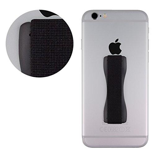 MyGadget© Finger-Halterung für Smartphone, Einhand-bedienung und Finger Grip für z.B. iPhone, Samsung Galaxy u.a. in Schwarz