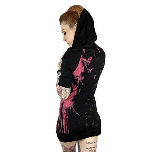 Yakuza Original Damen Unicorn Hooded Shirt Schwarz