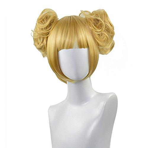 ALTcompluser My Hero Academia Cosplay Wig Perücke Zubehör für Erwachsene Party Verrücktes Kleid Merchandise(Himiko Toga)