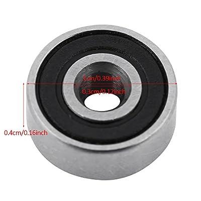 20Stück 608–2RS KUGELLAGER–Double Rubber versiegelt Miniatur Deep Groove Kugellager für Skateboards, Inline Skates, Scooter (3x 10x 4mm)