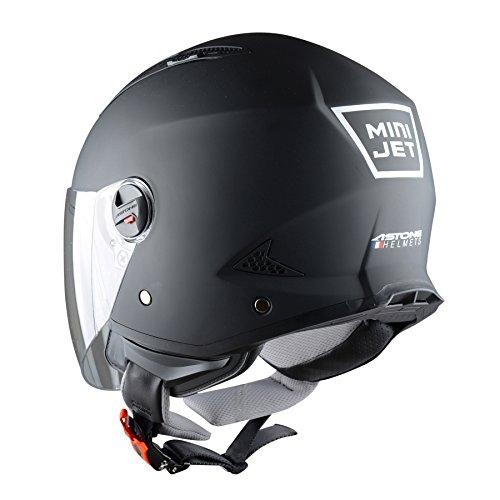 Astone Helmets Mini Jet Army Casco Jet talla L color Negro Mate