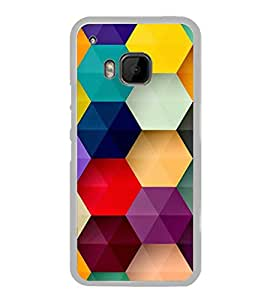 Multicolour Bright Pattern 2D Hard Polycarbonate Designer Back Case Cover for HTC One M9 :: HTC One M9S :: HTC M9 :: HTC One Hima