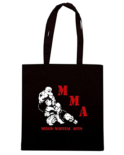 T-Shirtshock - Borsa Shopping TR0097 MMA Mixed Martial Arts T-Shirt Muay Thai, UFC, Street Fight Club Nero