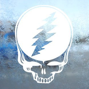 Aufkleber / Autoaufkleber / Sticker / Decal Grateful Dead White Decal Steal Your Face Window White Sticker Grateful Dead Aufkleber