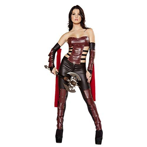 Griechische Weibliche Kostüm - nihiug Weiblicher Krieger Cos Sexy Griechische Göttin Gladiator Samurai Kostüme Königin Bühnenkleidung Halloween Kostüme Laufsteg Kleidung Menschliches Skelett,A