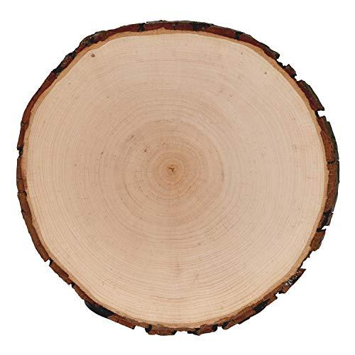 Rindenbrett Esche rund - Rindenscheibe Baumscheibe geschliffen Holzbrett, Brettgröße:Ø ca. 22cm