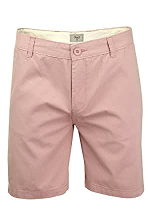 Xact Chino Shorts Mens Soft Feel Cotton Fashion Garment (Pink) 30