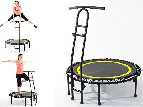 Joka Jumping Trampoline de Fitness Noir/Jaune Ø 110 cm certifié TÜV/GS