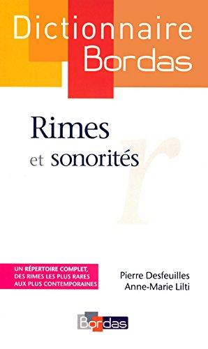 Dictionnaire des rimes et sonorits