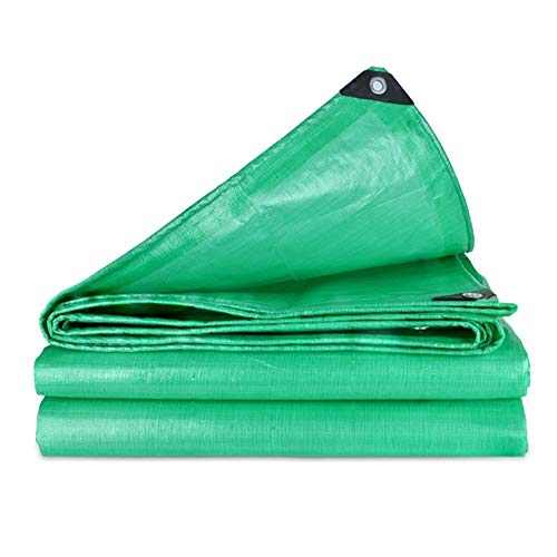 Faltbare Plane Anti-Aging Winddicht Wasserdicht Canvas Truck Cover Goods Staubdicht Markisen ZXZIXI (Color : Green, Size : 4x6m)