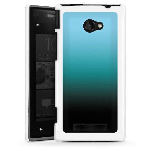 DeinDesign HTC Windows Phone 8X Hülle Schutz Hard Case Cover Blau Schwarz Farbverlauf