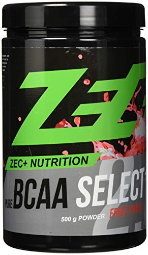 ZEC+ BCAA Select 2.0 - 500 g, BCAA Pulver mit Leucin, Valin & Isoleucin, Aminosäuren Supplement mit Vitamin B6, Geschmack Fruit Punch -