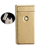 Electronic USB Plasma Double X Arc Rechargeable Cigarette Lighter (Tesla Coil) (Golden Design)