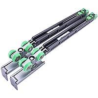 symboat Amortiguador de puerta corredera con tornillo Amortiguador de rueda de aleación para armario guardarropa