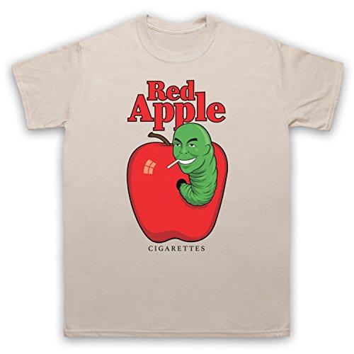 Red Apple Cigarettes Tarantino Fake Brand Herren T-Shirt Beige