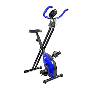 We R Sports Folding Magnetic Exercise Bike X-Bike Fitness Cardio Workout Weight Loss Machine - Blue